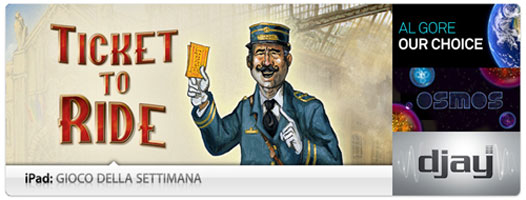 Ticket to Ride Gioco della Settimana per iPad Game