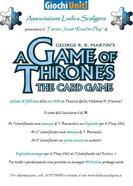 Torneo de Il Trono di Spade LCG a Parona 18-2-2012