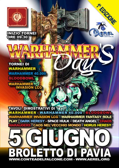 Pavia - Domenica 5 Giugno - Warhammer's Day 2011 – 1° Edizione