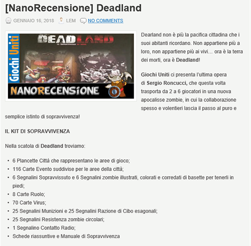 nano barbone recensisce deadland